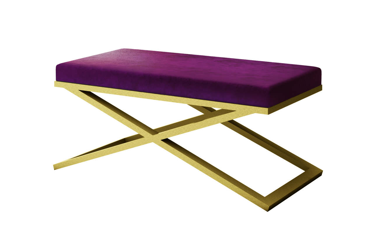 Fine Luxury Modern Bench Styles Purple Velvet With Gold Frames Machost Co Dining Chair Design Ideas Machostcouk