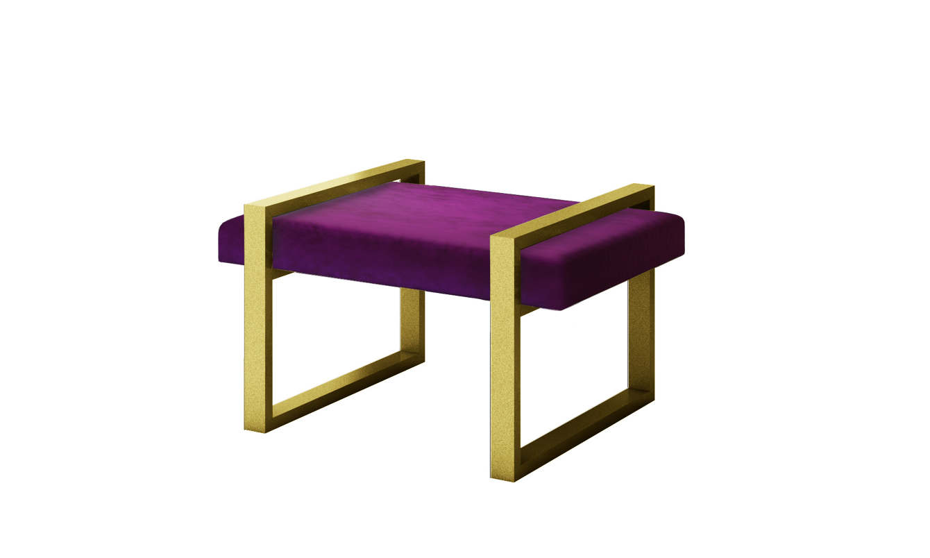 Incredible Luxury Modern Bench Styles Purple Velvet With Gold Frames Machost Co Dining Chair Design Ideas Machostcouk