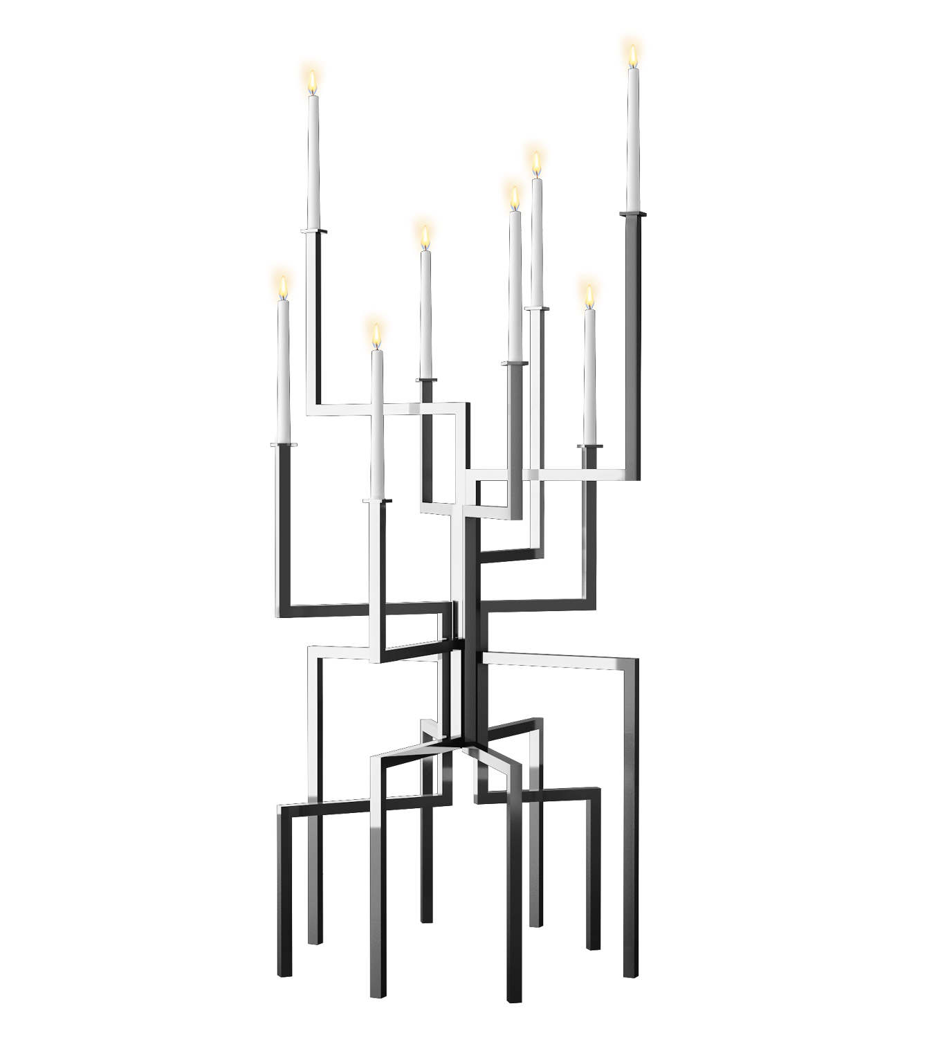 Extra Large 6 Modern Geometric Candelabra Candle Holder Candleholder Fixture Designer Jennava Laska Portfolio Furniture Sculpture Film
