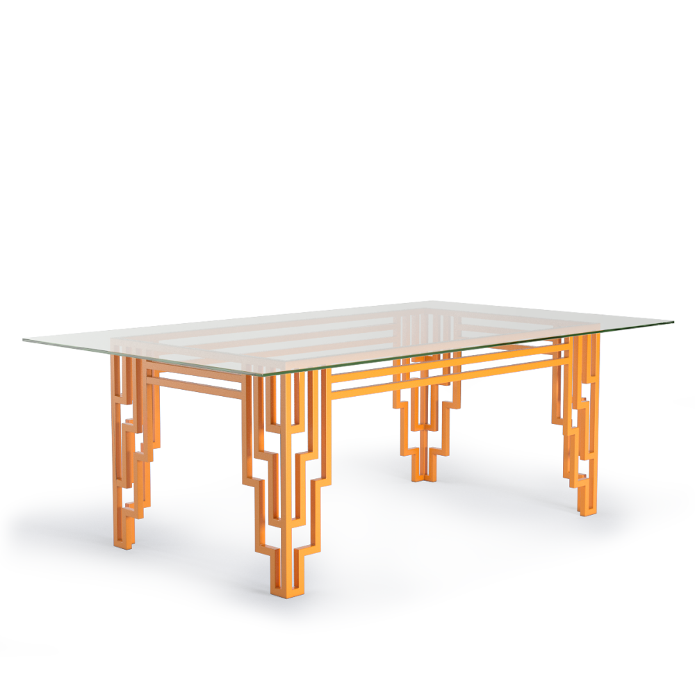 Modern Art Deco Bright Orange Furniture Design Table Dining Tables