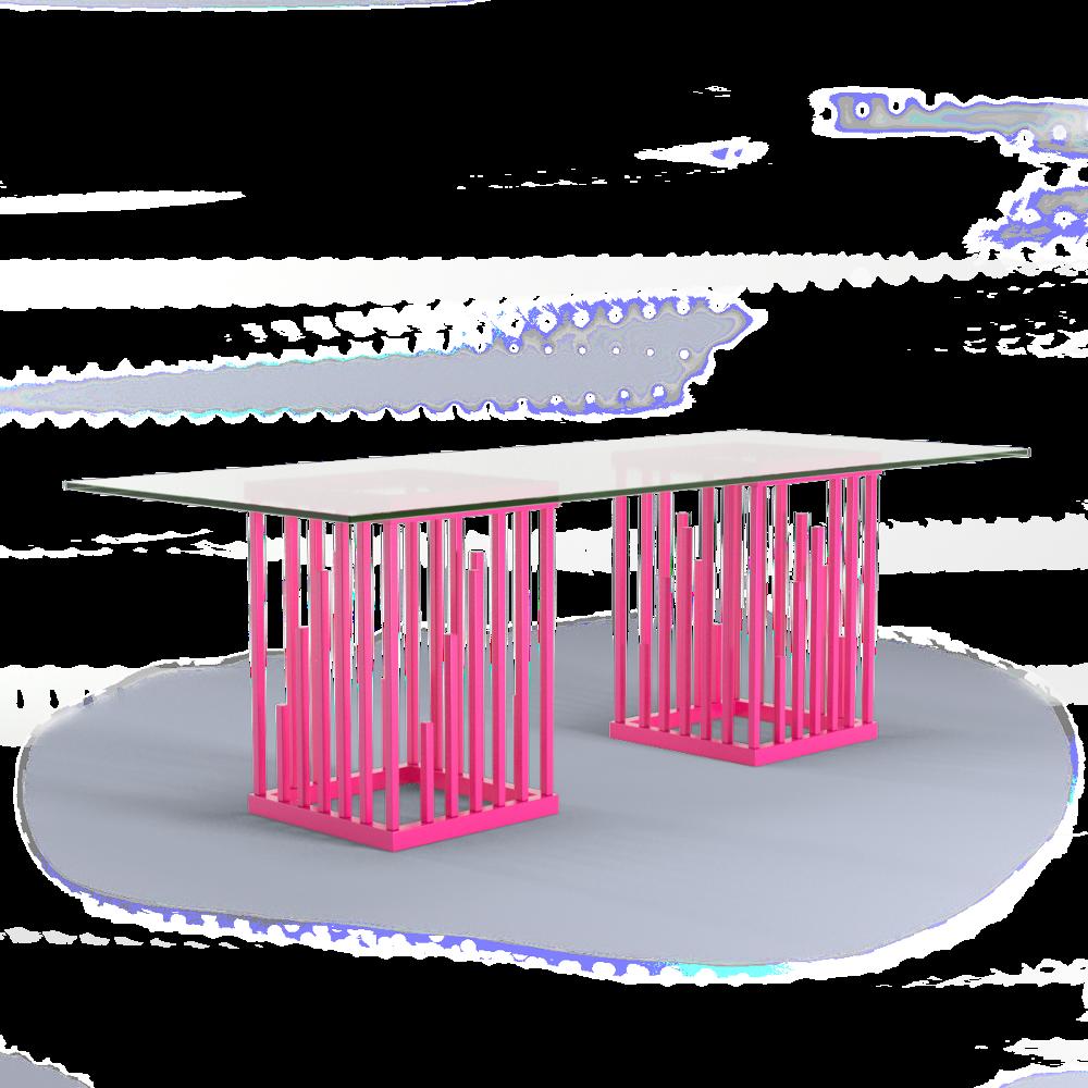 Scale Moderne Design.Ultra Modern Dining Table Neon Pink Hot Pink Moderne Design