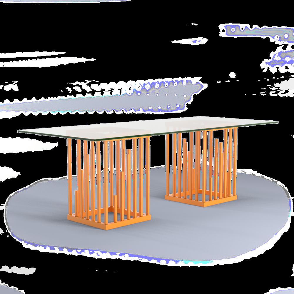 Ultra Modern Dining Table Bright Orange Moderne Design Square Furniture Interior Design Designer Jennava Laska Portfolio Furniture Sculpture Film