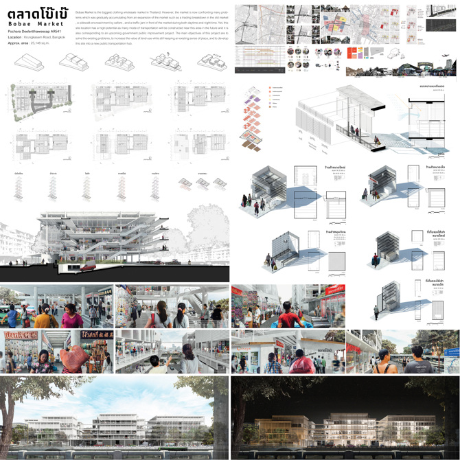 Market And Retails - 1:80 CU Architecture Thesis 2016
