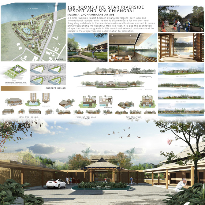 Resort And Hotel - 1:80 CU Architecture Thesis 2016