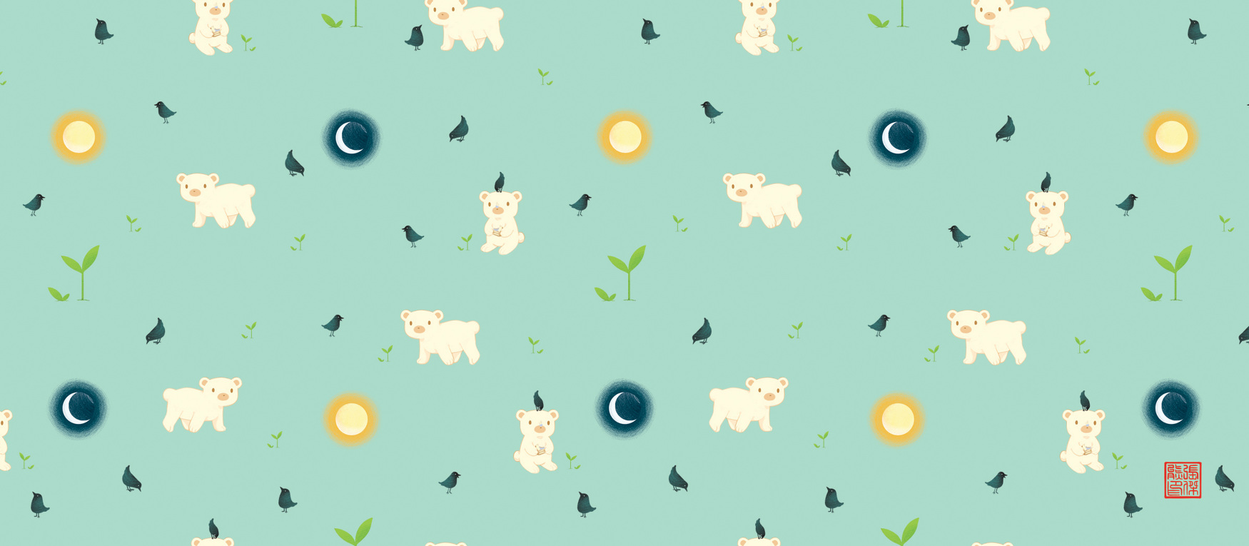 Sun And Moon Bear Pattern Jayne Xiong