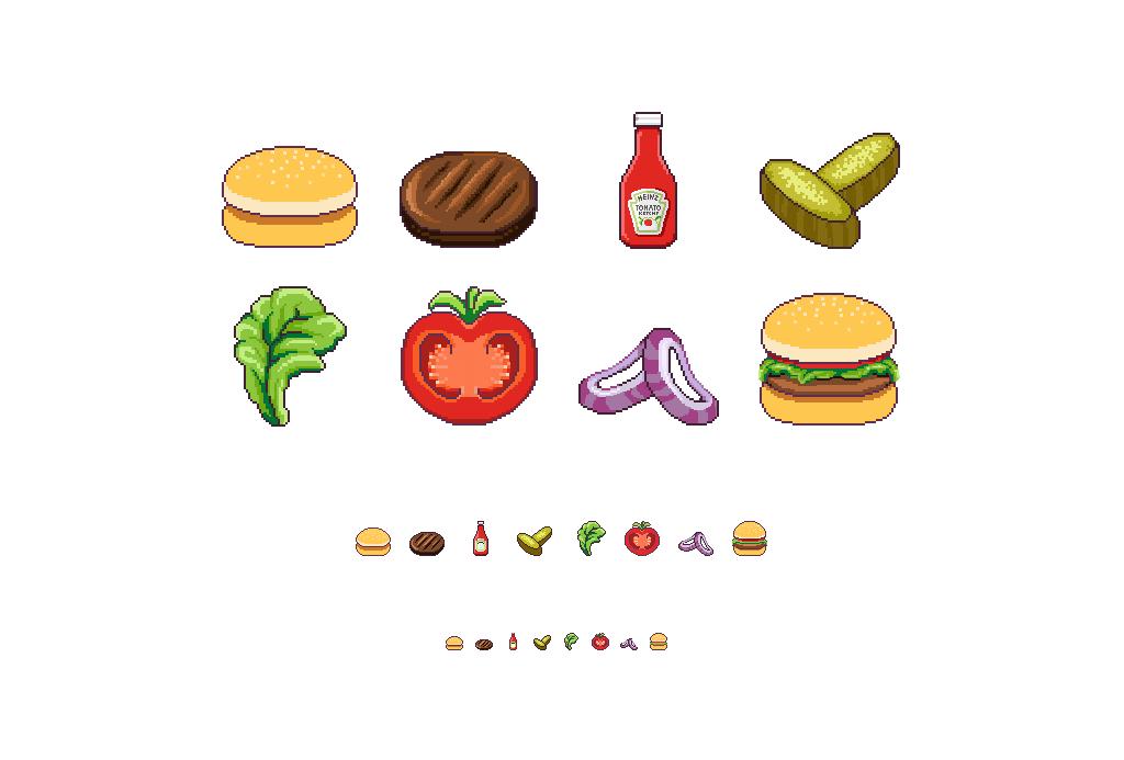 Pixel Burger Dana Porat Portfolio
