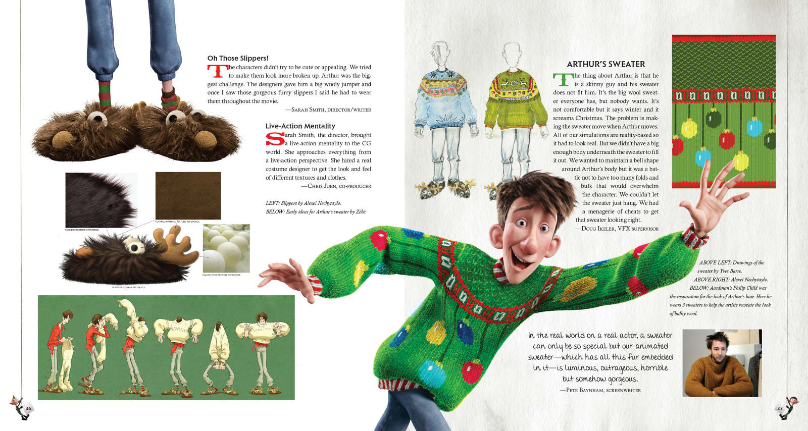 Arthur Christmas Characters.Arthur Christmas Night Day Design