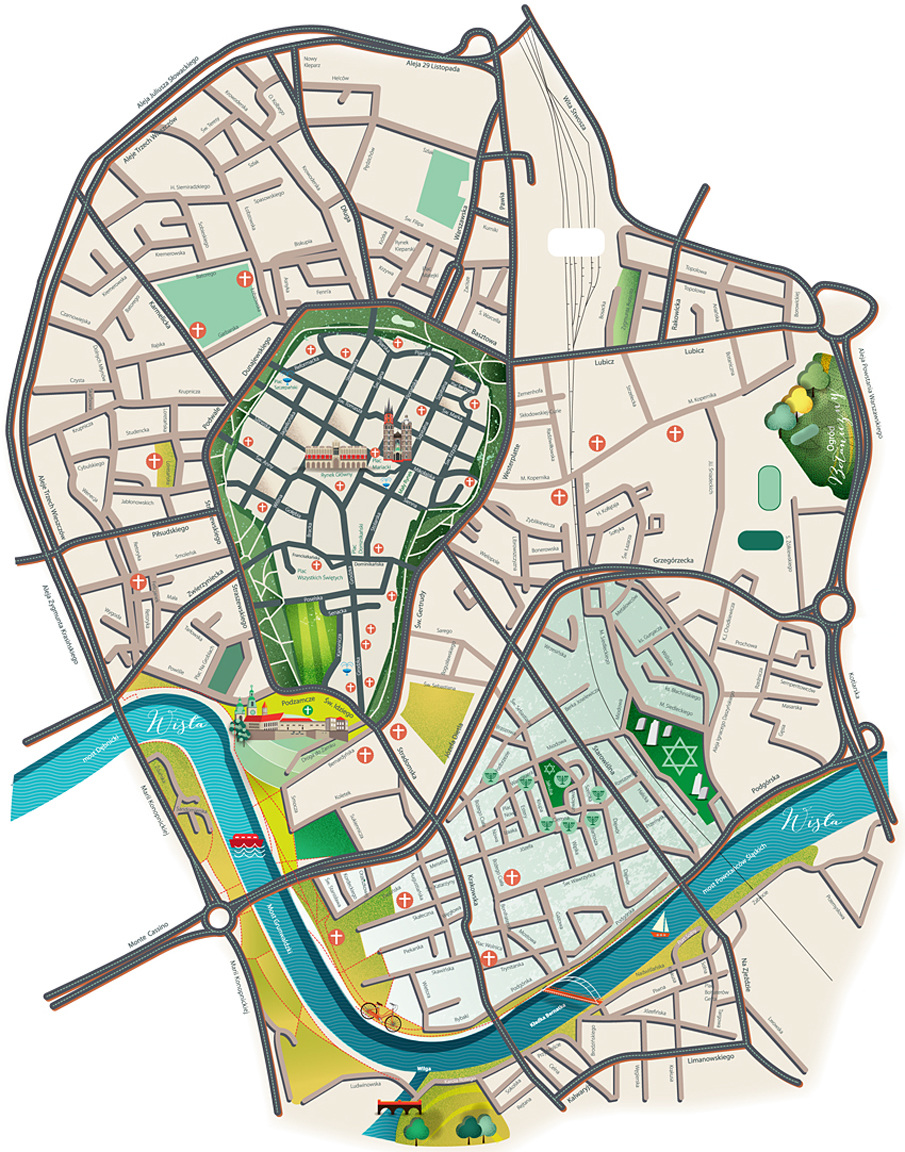 Mapa Krakowa Joannaroman