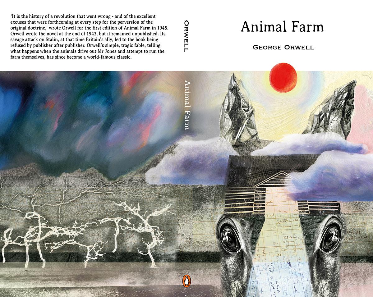 Book Cover Animal Farm Www Janebirbeckillustration Co Uk