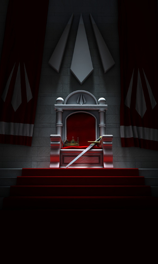empty throne  3d