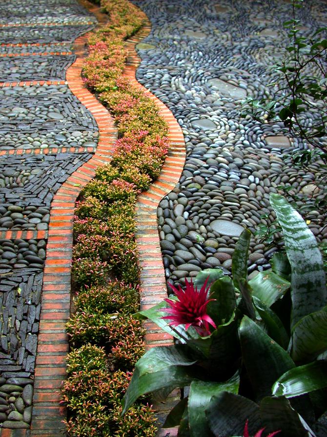 Piedra ana ashida jardines - Jardines con madera y piedras ...