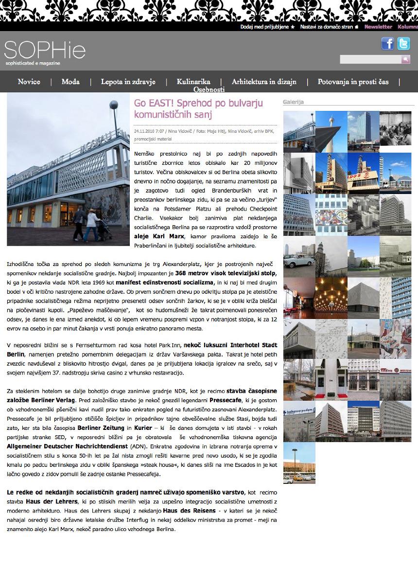 DDR architecture in Berlin - Nina Vidovic