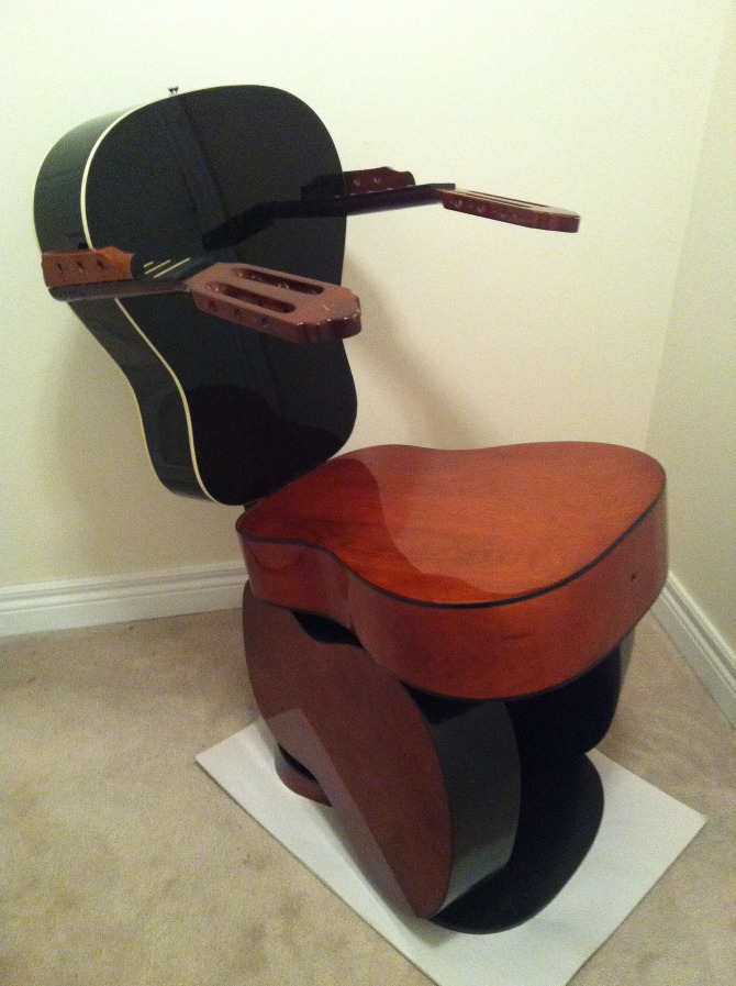 The Guitar Chair Works By Rachel Jane