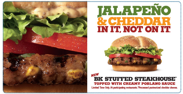 Burger King Stuffed Steakhouse