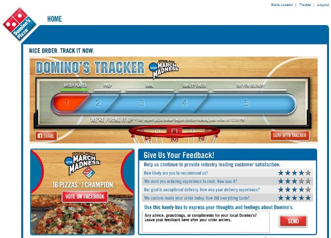 Domino S Pizza Tracker Stephen Dalton Copywriter