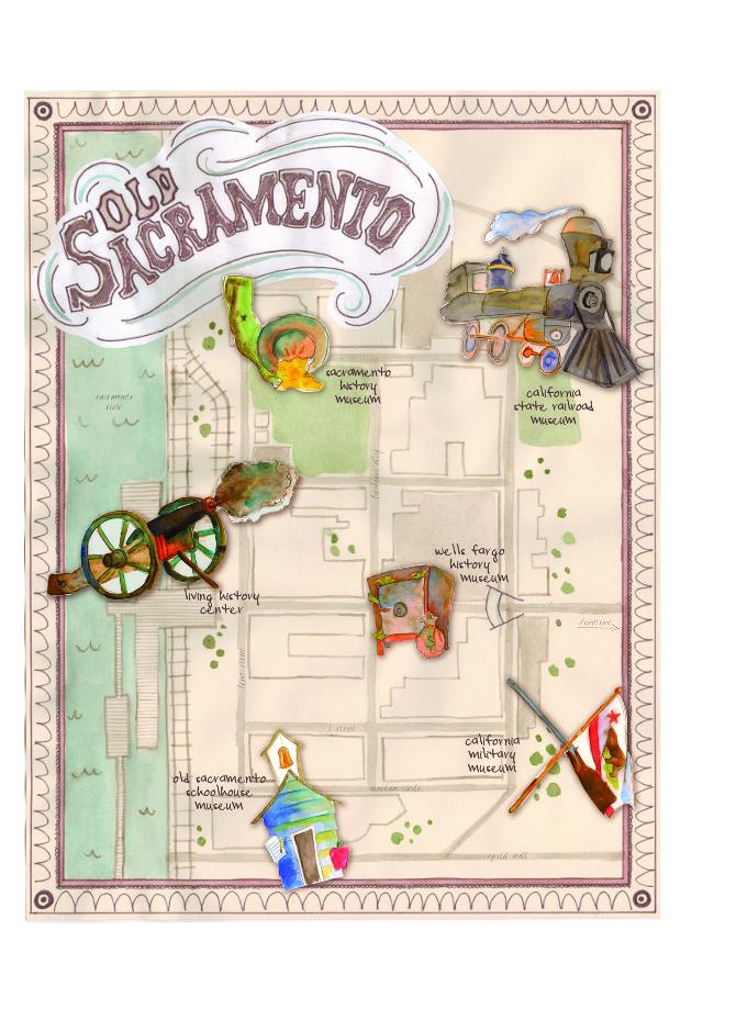 Old Sacramento Map - Caitlin Elmore Design and Illustration