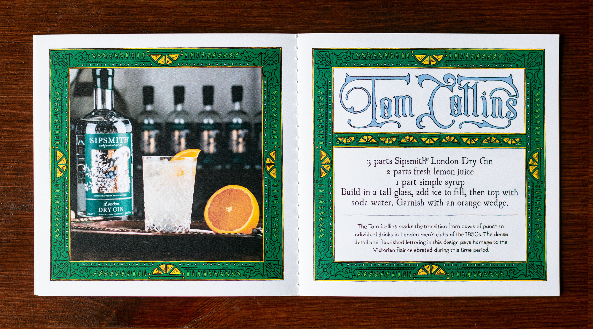 Sipsmith Gin Recipe Book - Wyne Enterprises