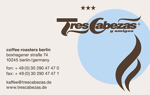 Tres Cabezas Berlin Kaffeemanufaktur Kommunikationsdesign