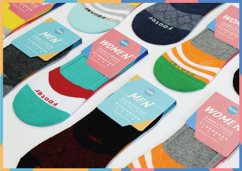footer socks packaging design formake design