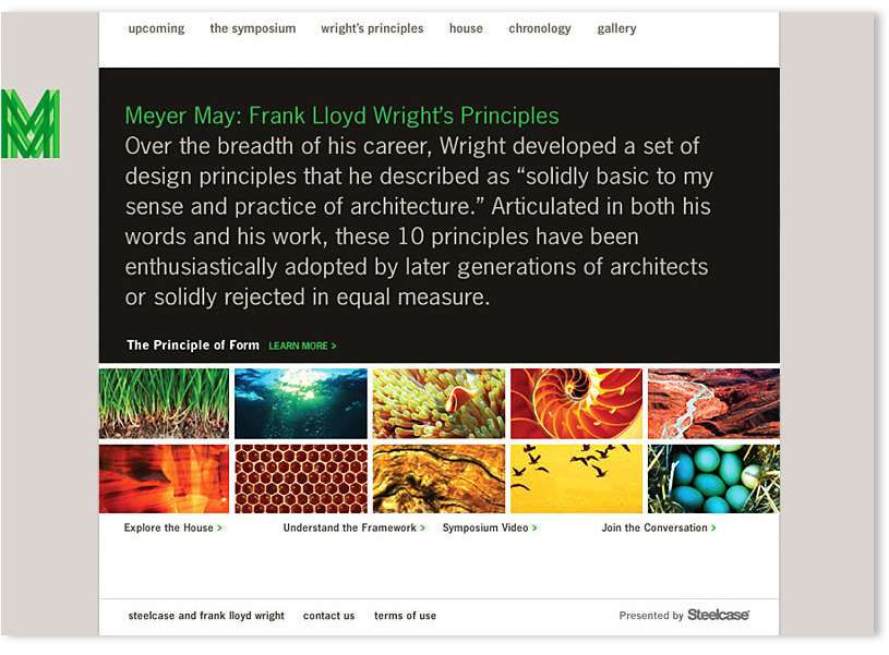 Frank Lloyd Wright Design Philosophy frank lloyd wright - m ward, creative director