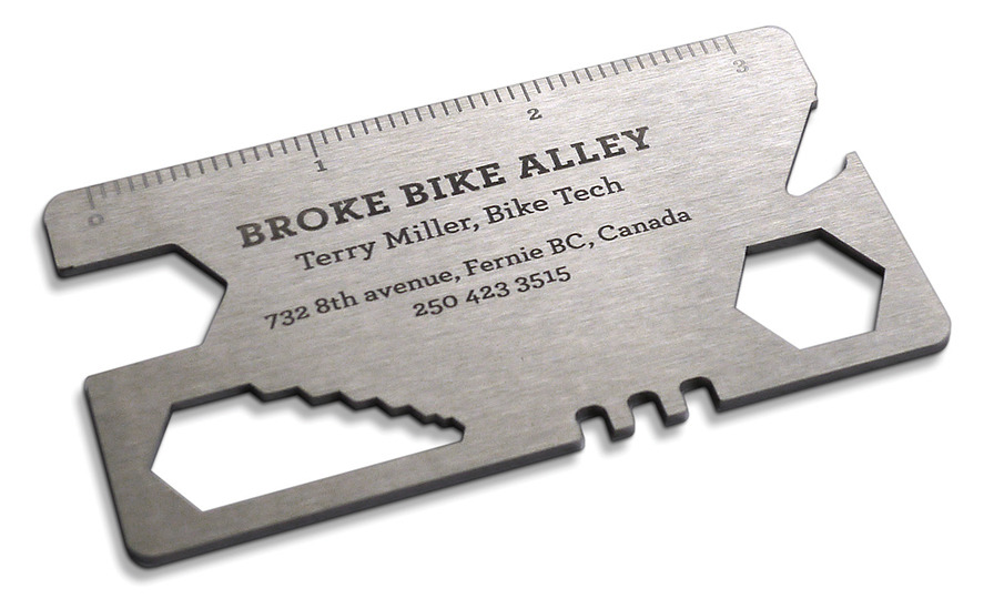 Broke Bike Alley Business Card - Justin Renvoize | Design & Ideas ...