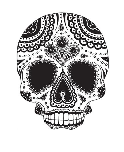 skull connie preston - Mexican Halloween Skulls