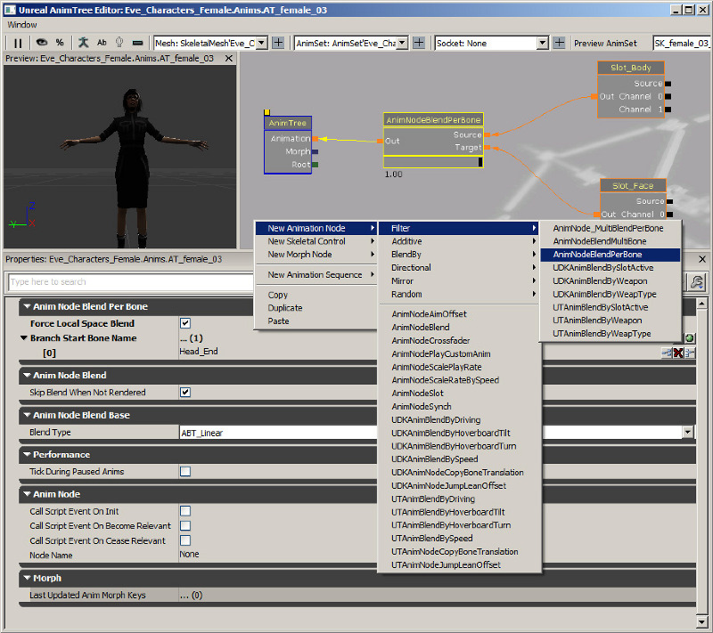 Eve 2 Unreal UDK - Characters:  - ThomasM - Personal network