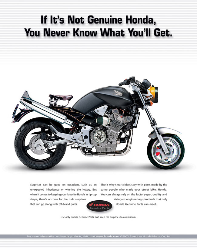 honda genuine parts ad illustrations