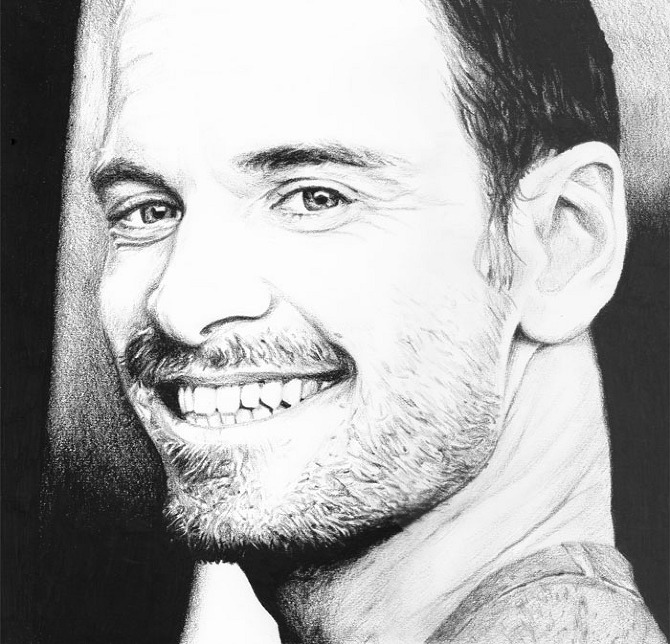 Drawings and Paintings... Michael Fassbender