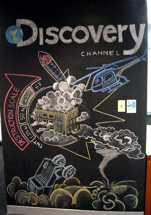 Discovery Network - Chalk Murals - calenna.com