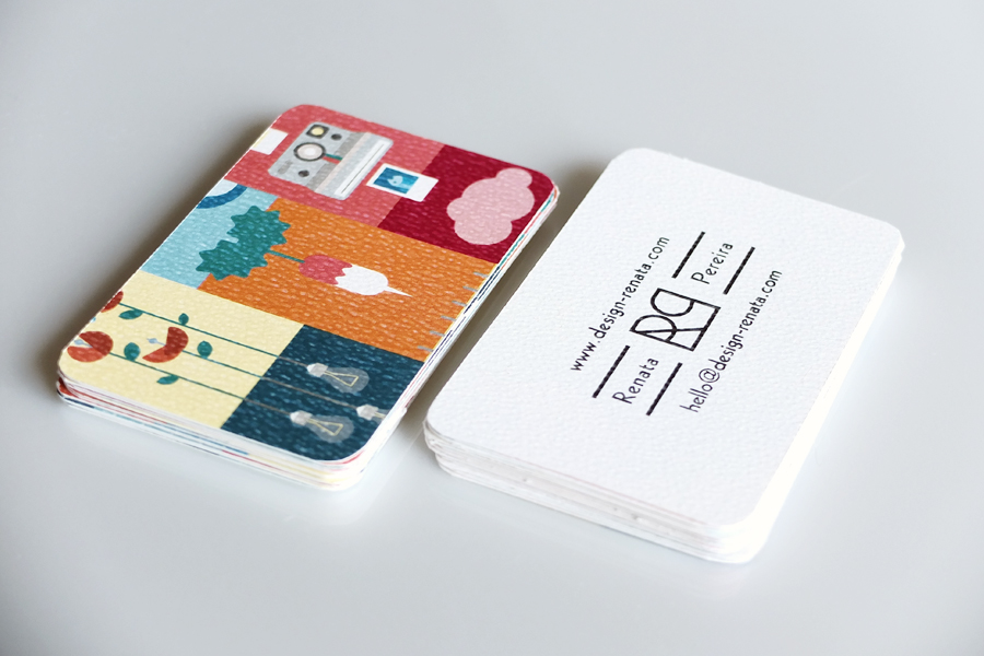 Business card renata pereira for Video game business cards