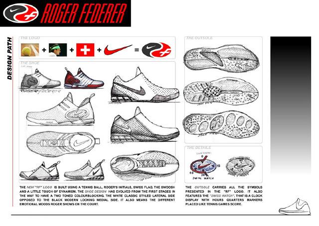 roger federer tennis shoe concept pietro pellicelli design