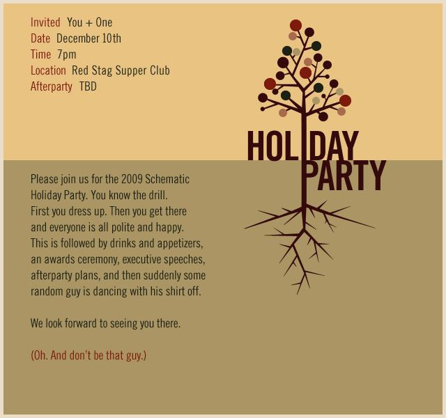 CHRISTMAS PARTY INVITE / Schematic, Minneapolis Office / Digital ...