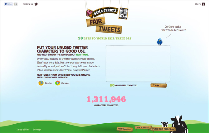 Image result for ben and jerry's fair trade tweets