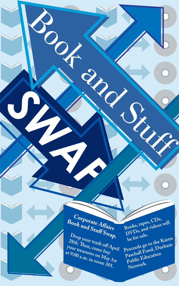 Book & Stuff Swap Poster - Fred Lameck American Airlines