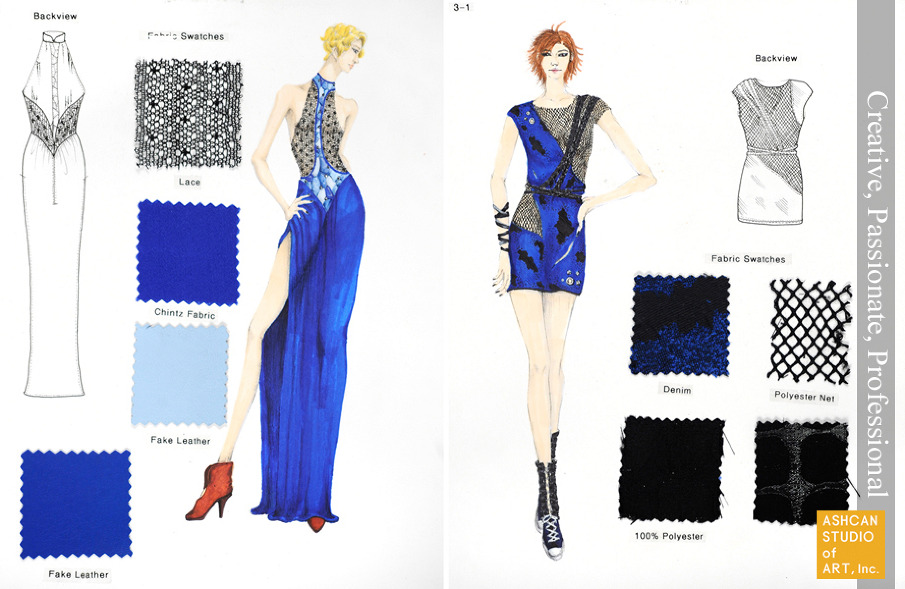 how to make a portfolio for fashion design school