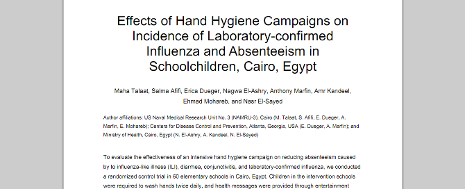 hand washing research paper International scholarly research notices  who recognises that washing hands  of hcws with soap can prevent infection in patients and is the.