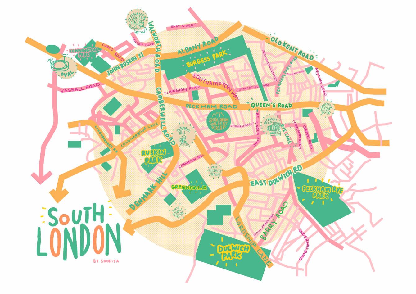 South London Map.South London Gallery Map Soofiya