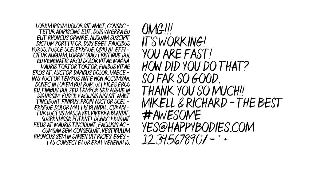 Aquafina Handwritten Font - Mikell Fine Iles