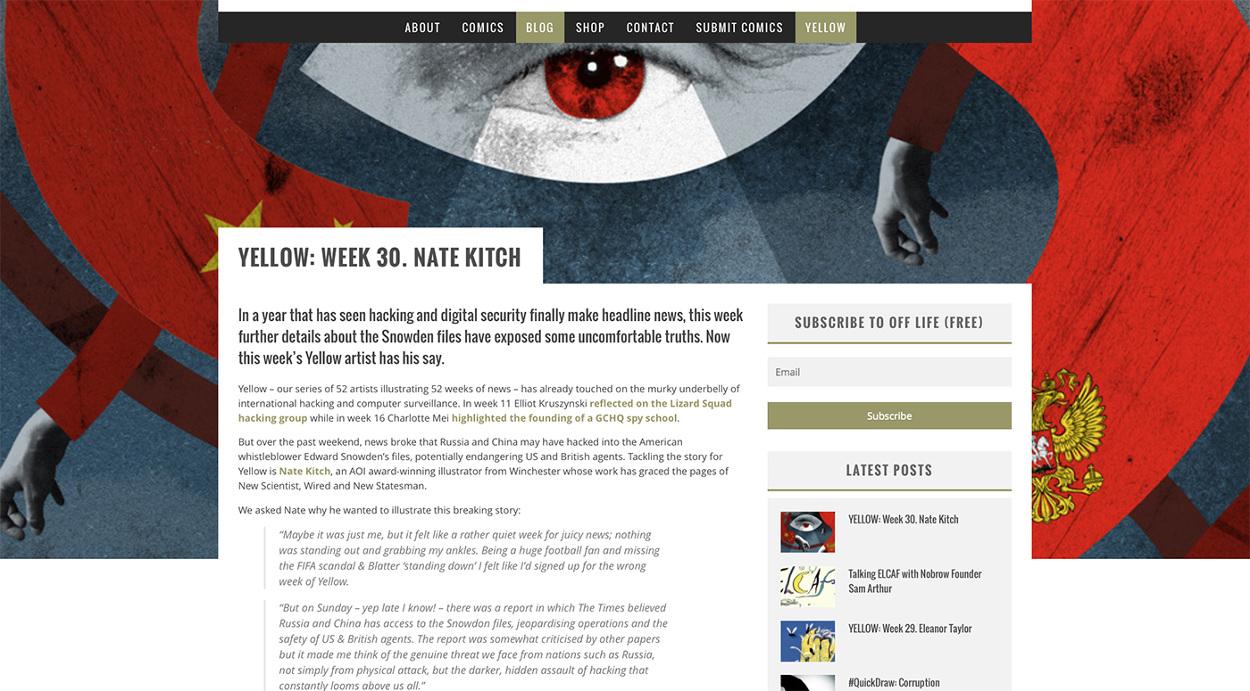 Featured - Nate Kitch   Illustrator   +44(0)7792896138