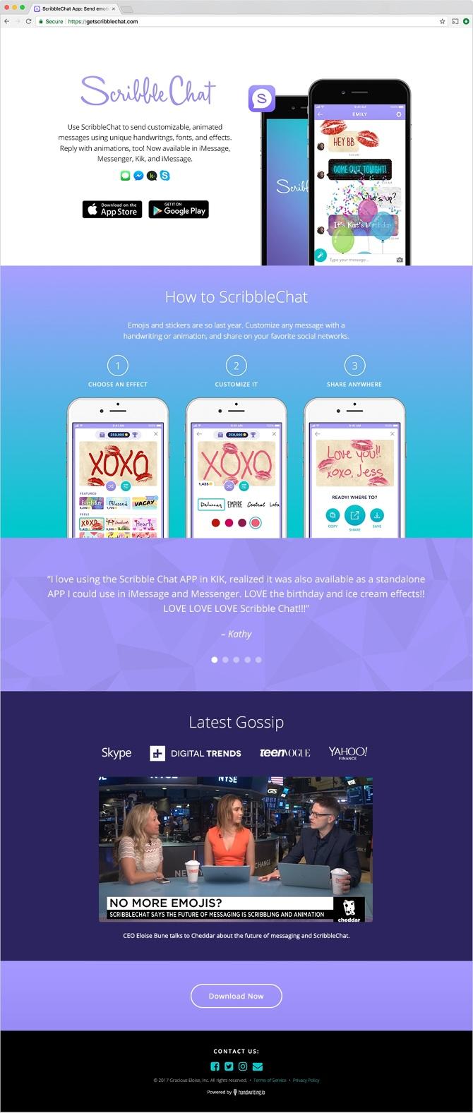 ScribbleChat - Valerie Schwartz | Visual & UI Design