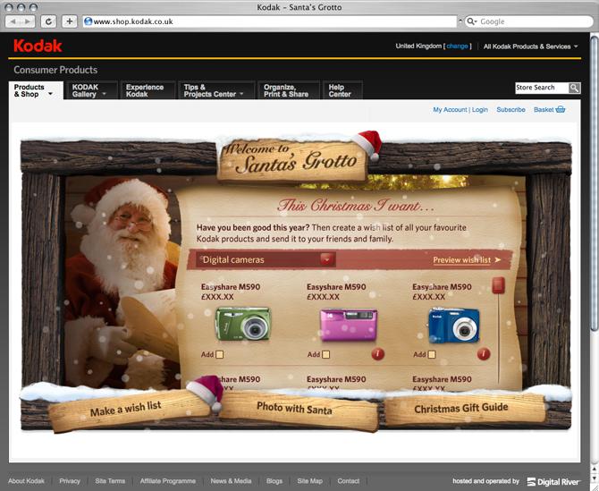 Kodak – Santa's Grotto - Dan Harman – Digital Designer