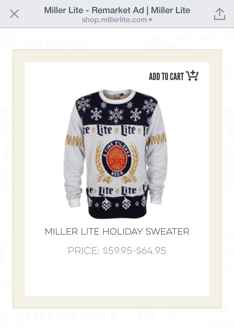 b905cc73c Miller Lite s Bad Holiday Sweater - art direction    portfolio