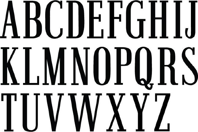 Condensed Serif Type Condensed Slab Serif