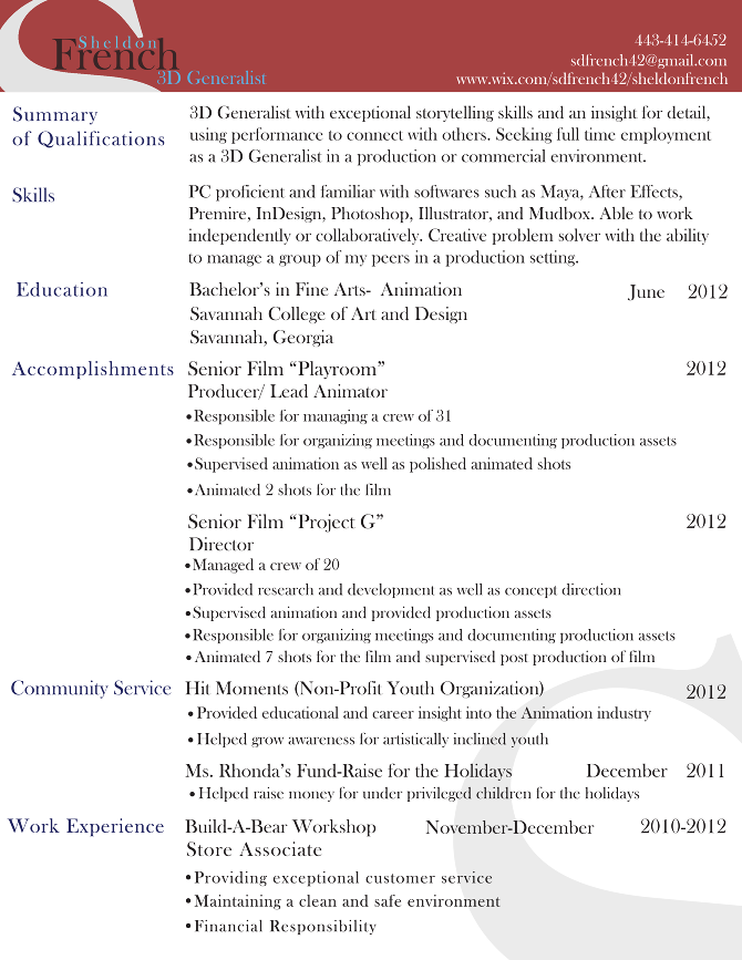 example french resume