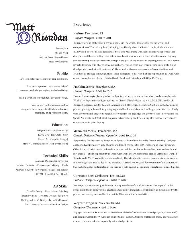 resume format with references available upon request