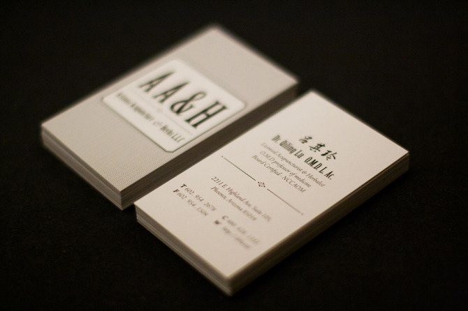 Aah business card design huilin dai colourmoves