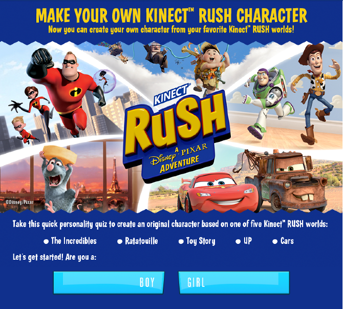 KINECT Rush Disney - Pixar - Cody James