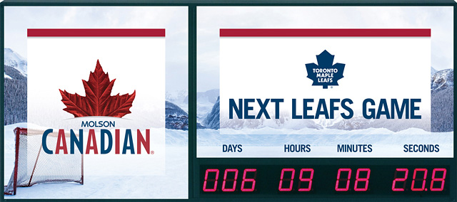 Molson Next Game Clock Dylan Royal