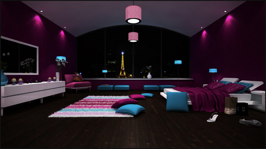 Architectural Visualization   Bedroom   Paris.